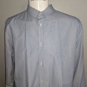 Superdry Blue Striped Shirt 2XL Excellent Cond